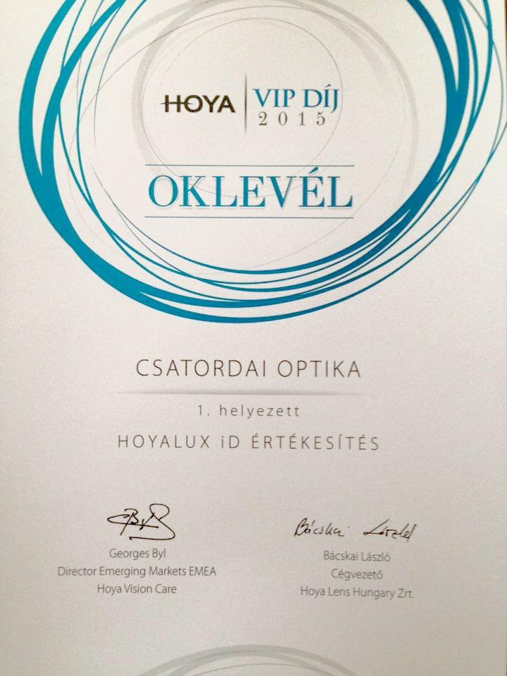 Hoya VIP díj 2015
