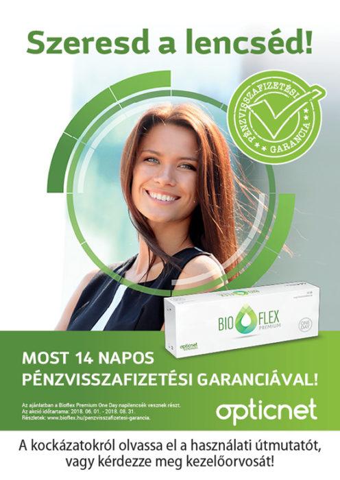 Pénzvisszafizetési akció Bioflex Premium 1Day kontaktlencsére