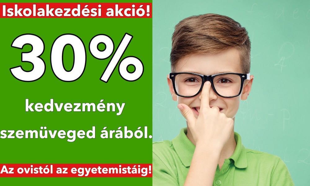 30% kedvezmény szemüveged árából