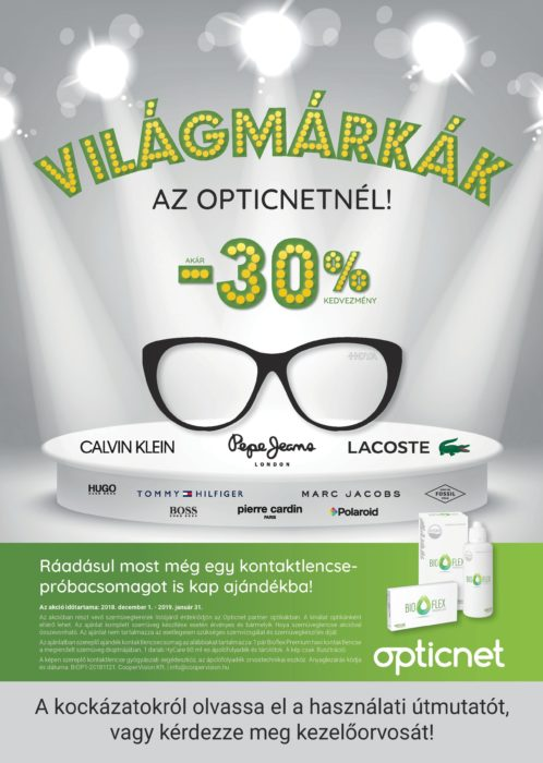 Világmárkák akcióban a Pupilla Optikában!