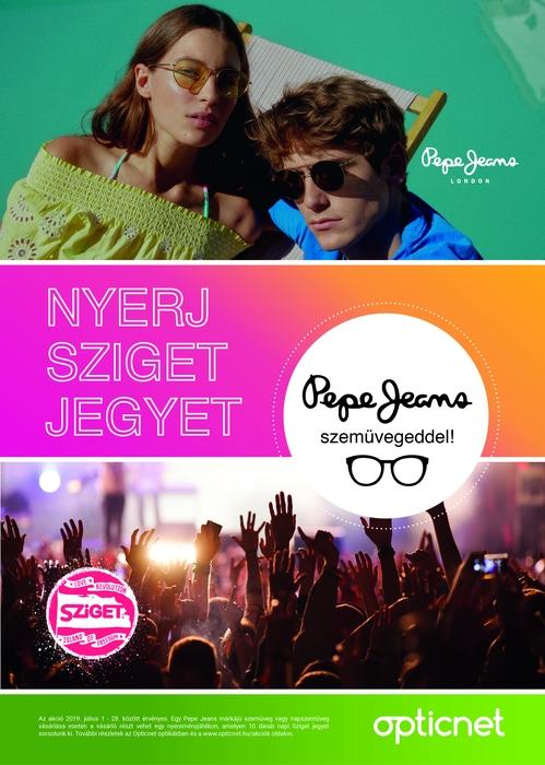 Nyerj Sziget jegyet a Pepe Jeans szemüvegeddel!