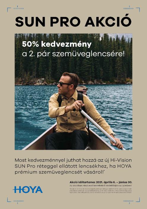 A HOYA vadonatúj fejlesztésű Hi-Vision SUN Pro prémium felületkezelése akció