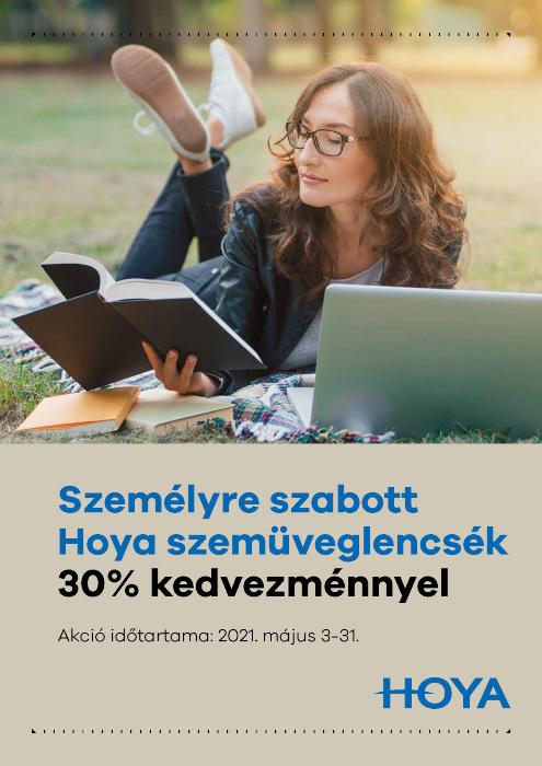 Személyre szabott Hoya szemüveglencsék 30% kedvezménnyel