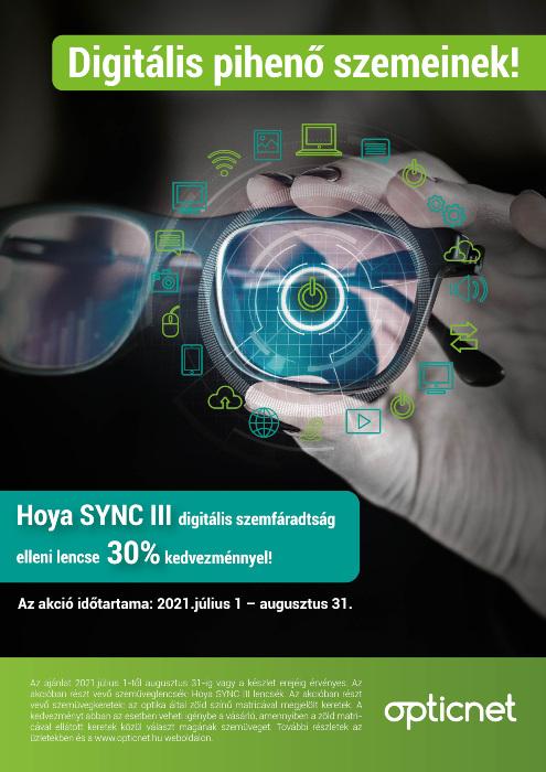 Hoya SYNC III szemüveglencse akció
